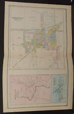 Ohio Huron County Map Greenwich 1891 Dbl Pg  !Y14#57