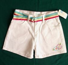 White Denim Jean Shorts Girls Size 12 with Belt NWT