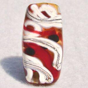 EL PASO  Handmade Art Glass Focal Bead Flaming Fools Lampwork Art Glass SRA