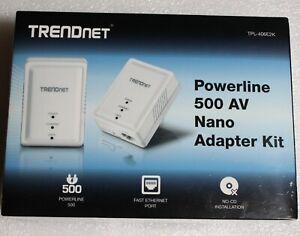 TRENDnet Powerline 500 AV Nano Adapter Kit TPL-406E2K