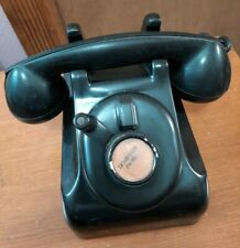 Vintage 1930's Leich 901B Black Bakelite Desk Telephone Crank Ringer