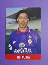 CARTOLINA UFFICIALE CALCIO POSTCARD FIORENTINA RUI COSTA 1996-97 NEW-FIO