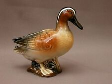 SUPERBE CANARD STATUETTE SCULPTURE ANIMALIERE PORCELAINE POLYCHROME MARQUEE