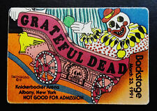 Grateful Dead Backstage Pass Puzzle Train Clown Knick Albany New York 3/23/1991