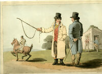 1814 - Costume of Yorkshire -  Horse Dealer  - first edition not the reprint.