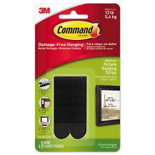 Command™ 17201 Medium Black Picture Hanging Strips