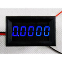 5 Digit Blue LED DC 0-3.0000A Digital Current Meter Panel Ammeter w/ 4 Wire