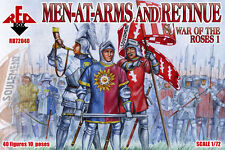 1/72 War of the Roses- Men-at-Arms & Retinue Red Box 72040 Plastic figure