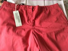 LACOSTE LADIES WIDE LEG COTTON Red Golf StyleTURN UP TROUSERS Size 18 LACOSTE 46