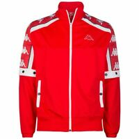 FELPA KAPPA UOMO 3031T90 900 UOMO MAN JACKET RED FLAME WHITE ROSSO ORIGINALE