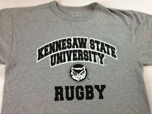 Kennesaw State University Owls Rugby T-Shirt Womens Medium Georgia KSU Alumni