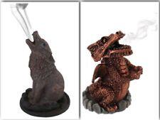 incense cone burner holder GIFT wolf or red dragon Lisa Parker FREE CONES