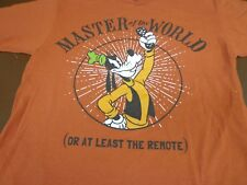 Disney Store Goofy T-Shirt  Master of the World or at least  Remote  Medium  U1