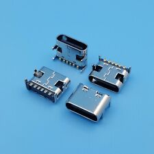 10Pcs USB 3.1 Type C Female 6Pin 4Legs SMT Simple PCB Solder Socket Connector
