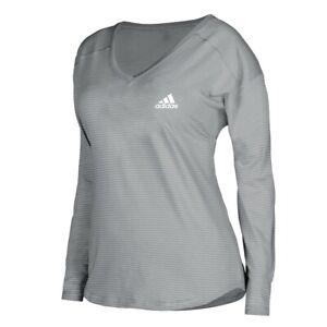 Adidas Women's EQT Performance Chest Logo Grey Long Sleeve Shirt A87948