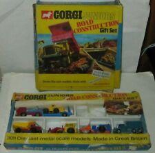 CORGI JUNIORS No.3011 & 3034 - x2 ROAD CONSTRUCTION GIFT SETS