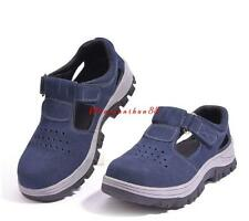 Womens Antislip Anti Puncture Occupational Steel Toe breath Working Safety Shoes