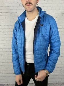 Patagonia Men's Blue Nano Puff Quilted Insulated Puffer Jacket 84211 Sz S