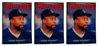 (3) 1992 Prime Pics #64 Kirby Puckett Baseball Card Lot Minnesota Twins