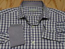 Jack Stone by Thomas Dean L Attractive Grape Check Long Sleeve Shirt EUC