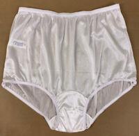 Vintage Carole Women Nylon Granny Panties Sheer Briefs White USA NWOT Size 10