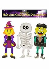 Halloween Scary Hanging Characters Decoration 3Pcs Witch Frankenstein Skeleton
