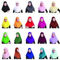 Set 2pcs Women Muslim Cap Hijab Scarf Arab Islamic Head Cover Shawls Headscarf