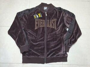 NWT Everlast Sweat Suit Full Zip Jacket Suede Brown L Rare Travis Scott
