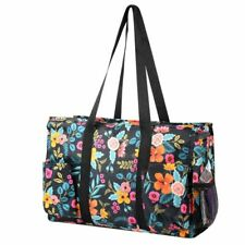 Travel Camping Shopping Zipper Utility Shoulder Tote Carry Bag Marion Floral