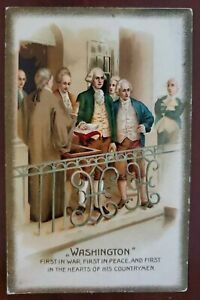 George Washington Embossed Postcard - inauguration?