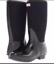 HUNTER ARLEN Rain Boots Women's Size 6M Black Blue Winter Pull On
