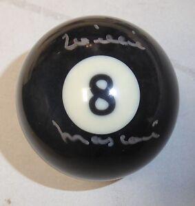 Willie Mosconi Signed Billiards #8 Pool Ball PSA/DNA COA Autograph The Hustler