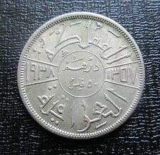 1938-I Iraq Silver 50 Fils - King Ghazi I - High Grade example