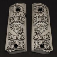 1911 GRIPS,Fits Colt 1911 Commander / government 1911 Full Size Grips Silver