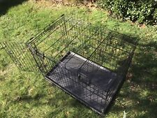 """Dog Crate Folding Metal 36"""" With Divider Pet Dog Crate Kennel"""