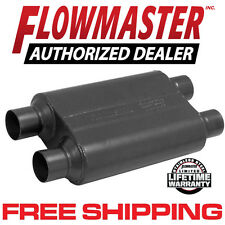 "Flowmaster 8425454 Super 44 Muffler 2.5"" Dual Inlet/ Dual Outlet 409S Stainless"