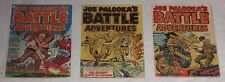3 Golden Age JOE PALOOKA'S BATTLE ADVENTURES #s 69, 71, 73 VIOLENT pre-code WAR!
