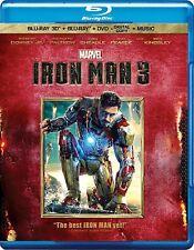 Iron Man 3 (Blu-ray/DVD, 2013, 3-Disc Set; 3D)
