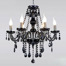 Modern Ceiling Chandelier Lamp Crystal Pendant Gallery Iron 6 Light Fixtures