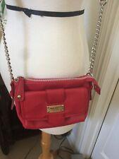 Nine West Small Red Crossbody Faux Leather Bag Shoulder Purse Travel Handbag