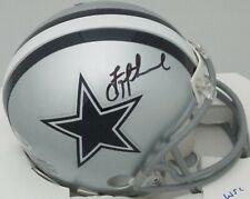 Cowboys TROY AIKMAN Signed Riddell Dallas Mini Helmet AUTO - Beckett