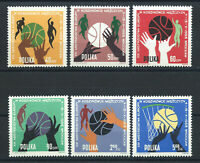 "Pologne N°1284/89** (MNH) 1963 - ""Basketball"" Championnats d'Europe"