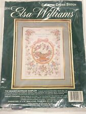 Elsa Williams Counted Cross Stitch Kit - The Beaded Marriage Sampler-Open/ 02076