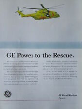 6/00 PUB GENERAL ELECTRIC CANADA RESCUE HELICOPTER CORMORANT GE T700 ENGINE AD