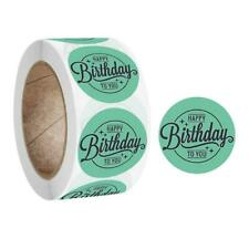 500Pcs/Roll Happy Birthday Round Stickers Party Gift Packaging Seal Labels Decor