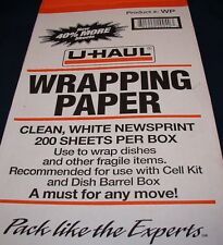 U-Haul Newsprint Wrapping Packing Paper 10 pound Box