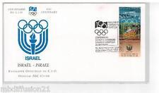 1994**FDC 1°JOUR!!**COMITE INTERNATIONAL OLYMPIQUE-CIO** TIMBRE ISRAEL