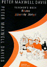 Peter Maxwell Davies 7 Summer Songs Learn Voice Piano Recorder Music Book