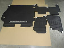 RANGE ROVER SPORT RUBBER FLOOR MAT SET AND RUBBER CARGO LINER - OEM Brand New