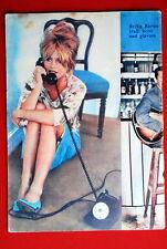 BRIGITTE BARDOT LEGGY BACK COVER 1961 RARE EXYU MAGAZINE